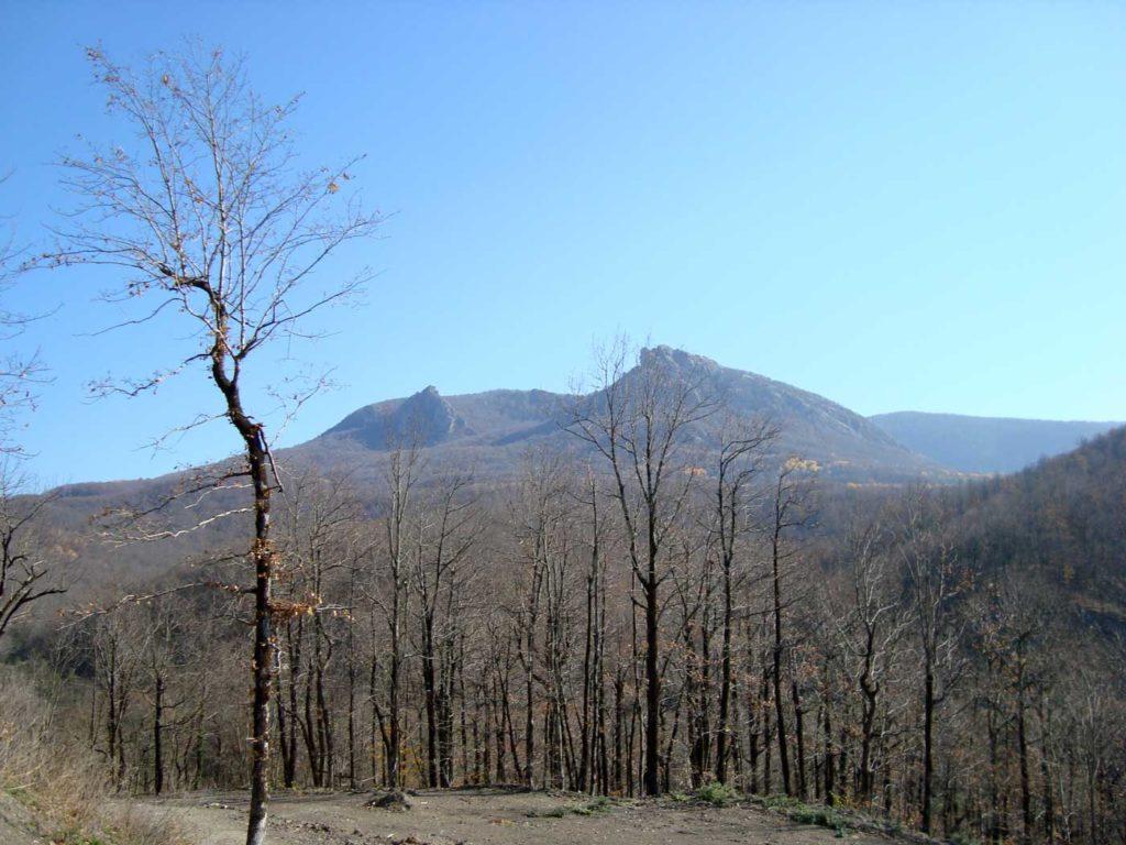 Вид на горы в начале пути