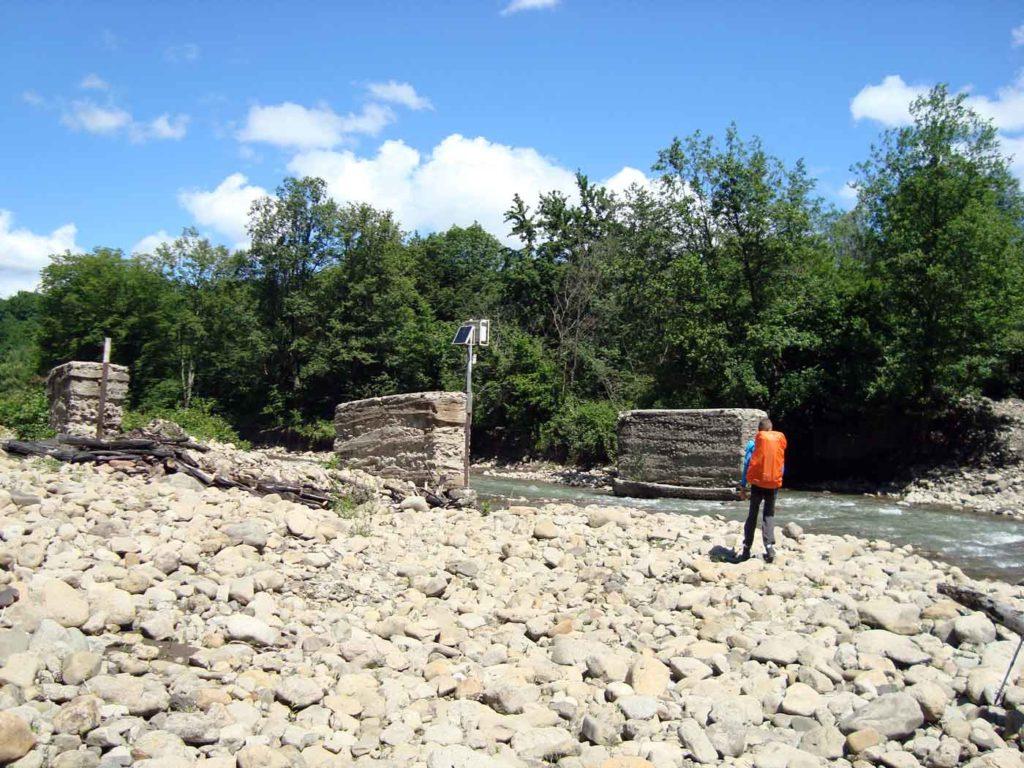 Опоры моста через Пшиш