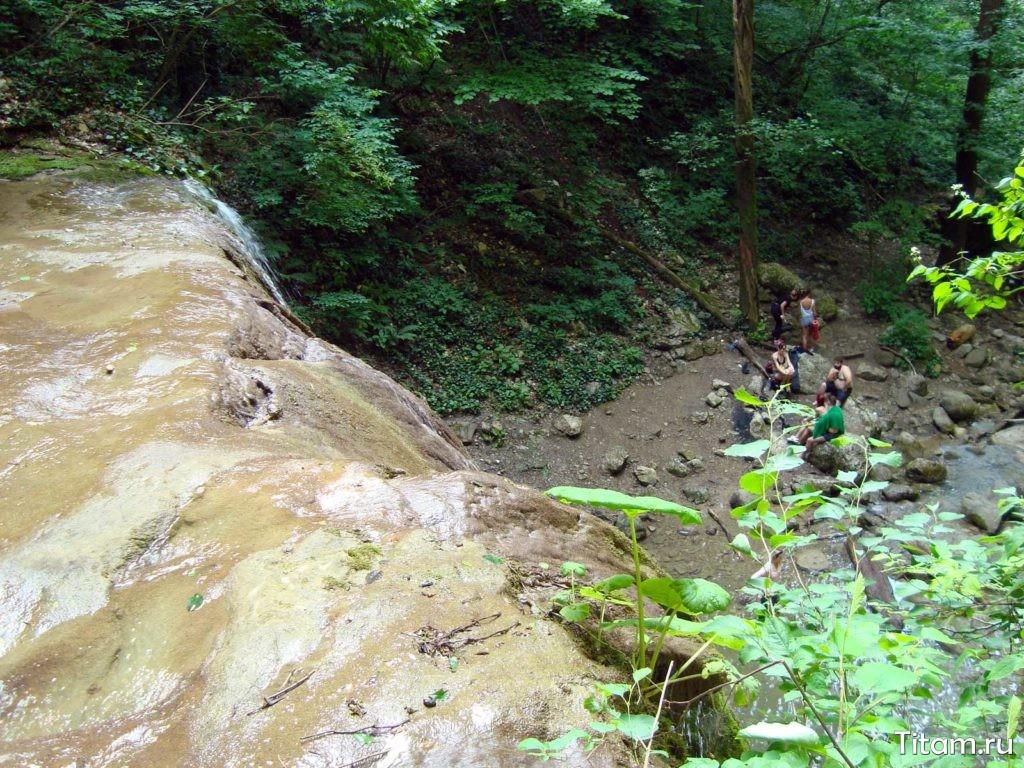 Большой Каверзинский водопад - вид сверху