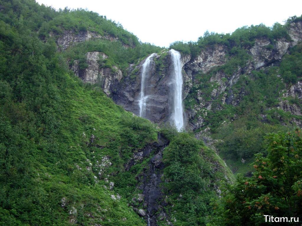 Водопад Поликаря Сочи