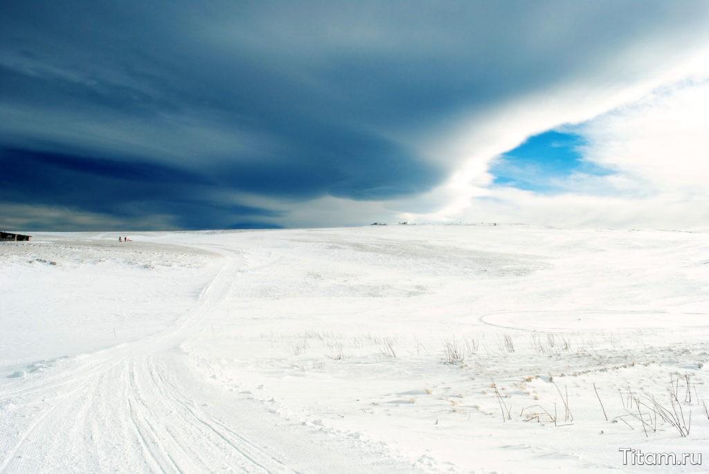 Зима. Плато Лагонаки