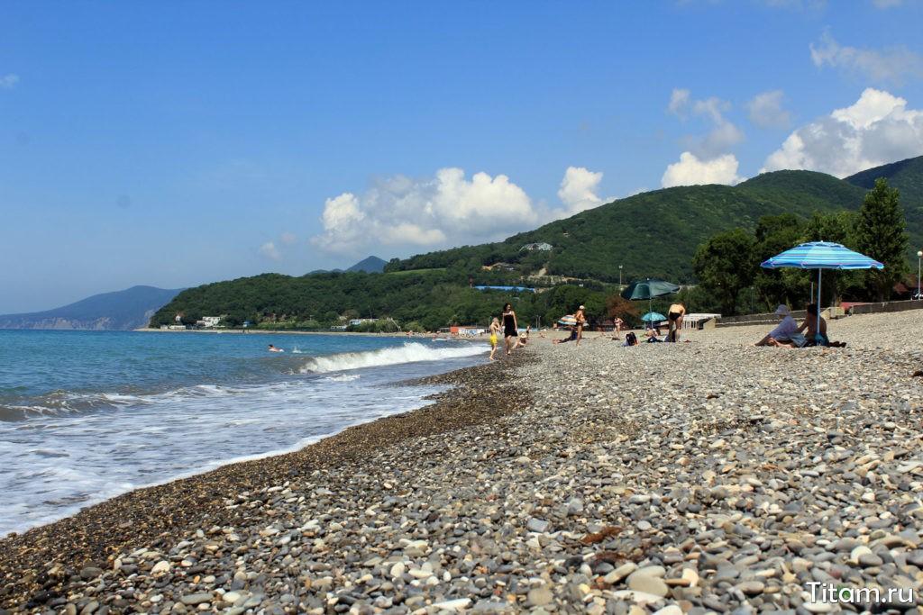 Криница (Геленджик), пляж