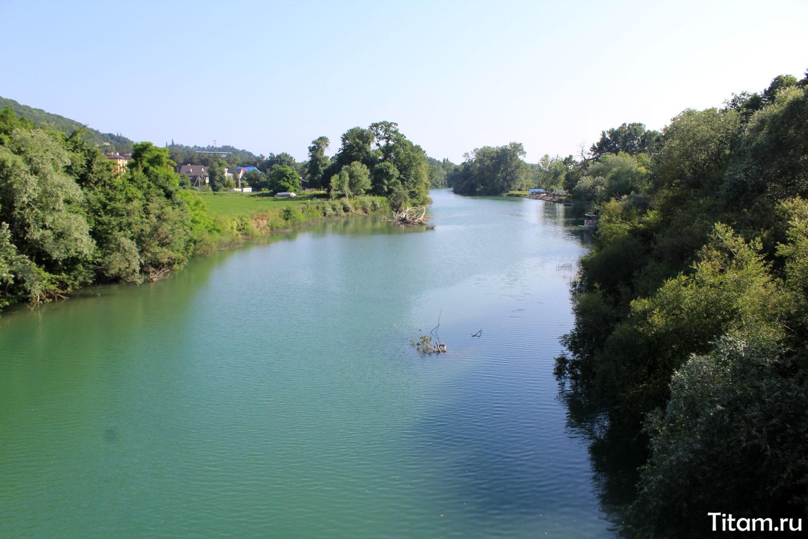 Река Пшада. Вид с моста
