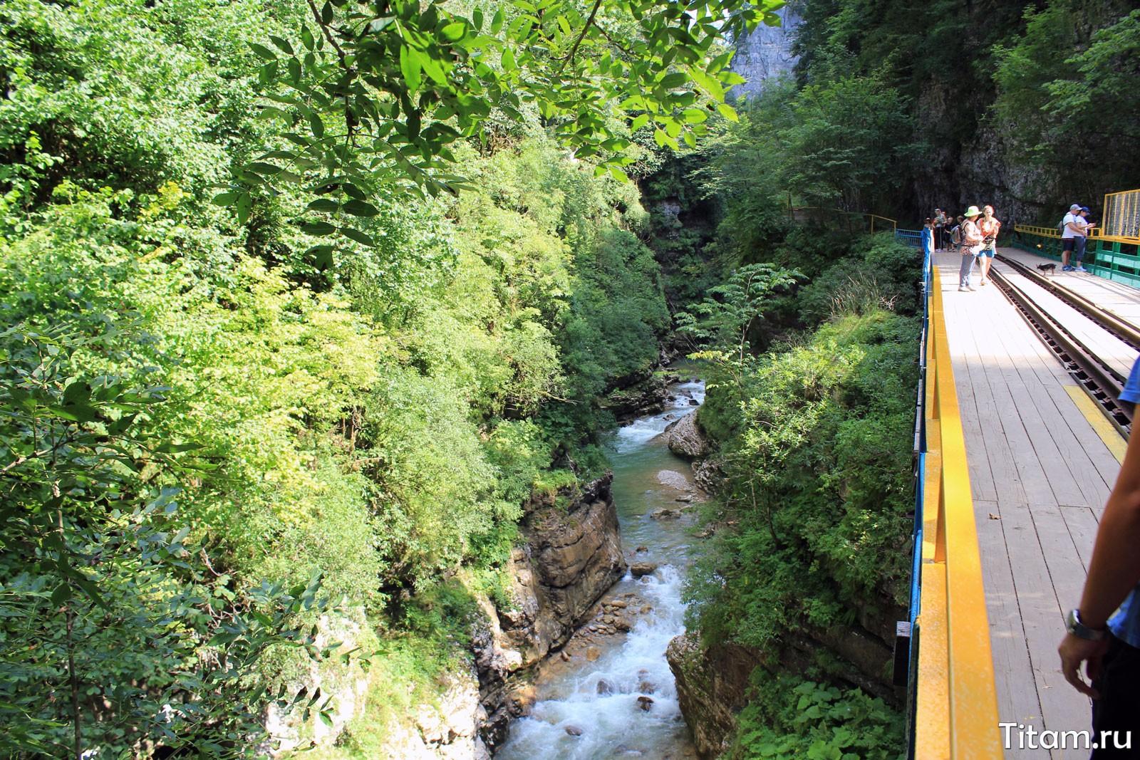 Гуамское ущелье летом