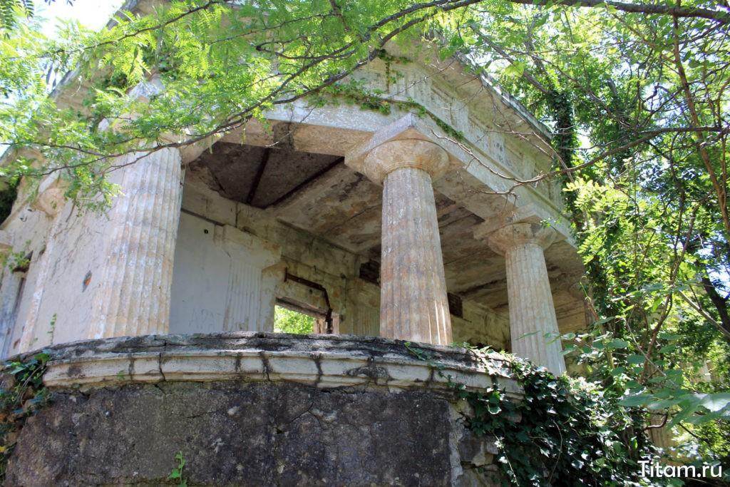 Начало колоннады
