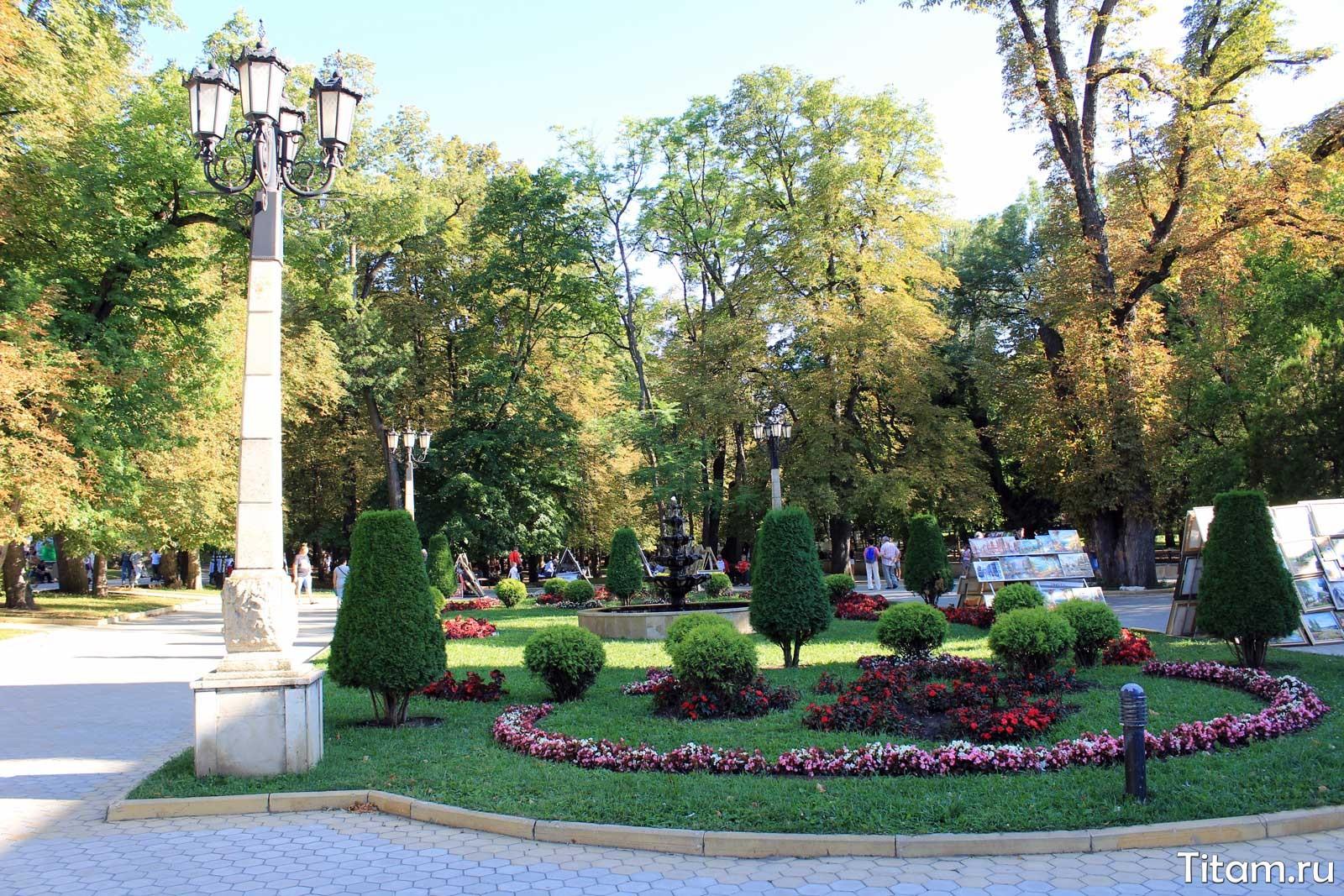 Кисловодский курортный парк. Нижний парк