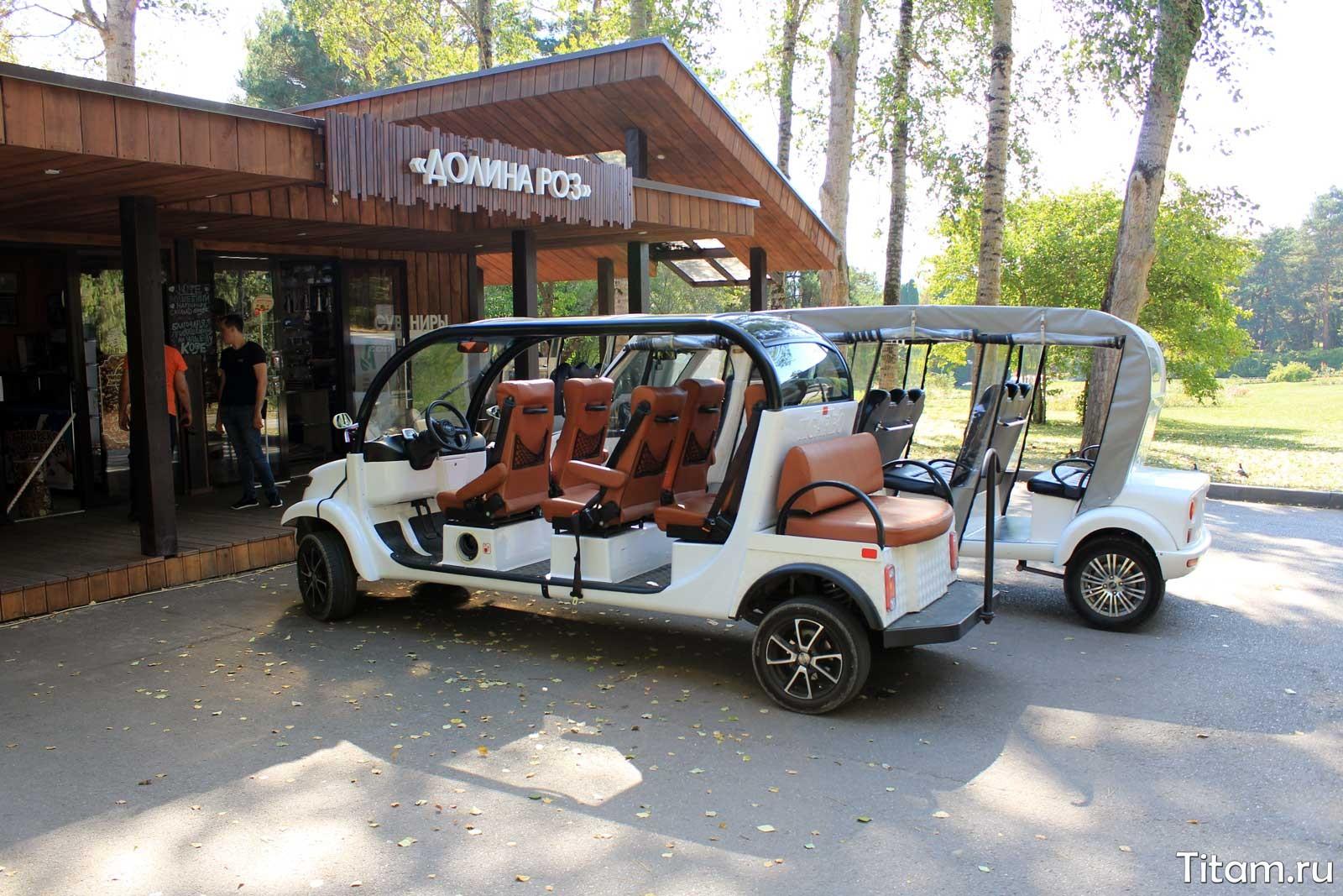 Электромобили в Кисловодском парке