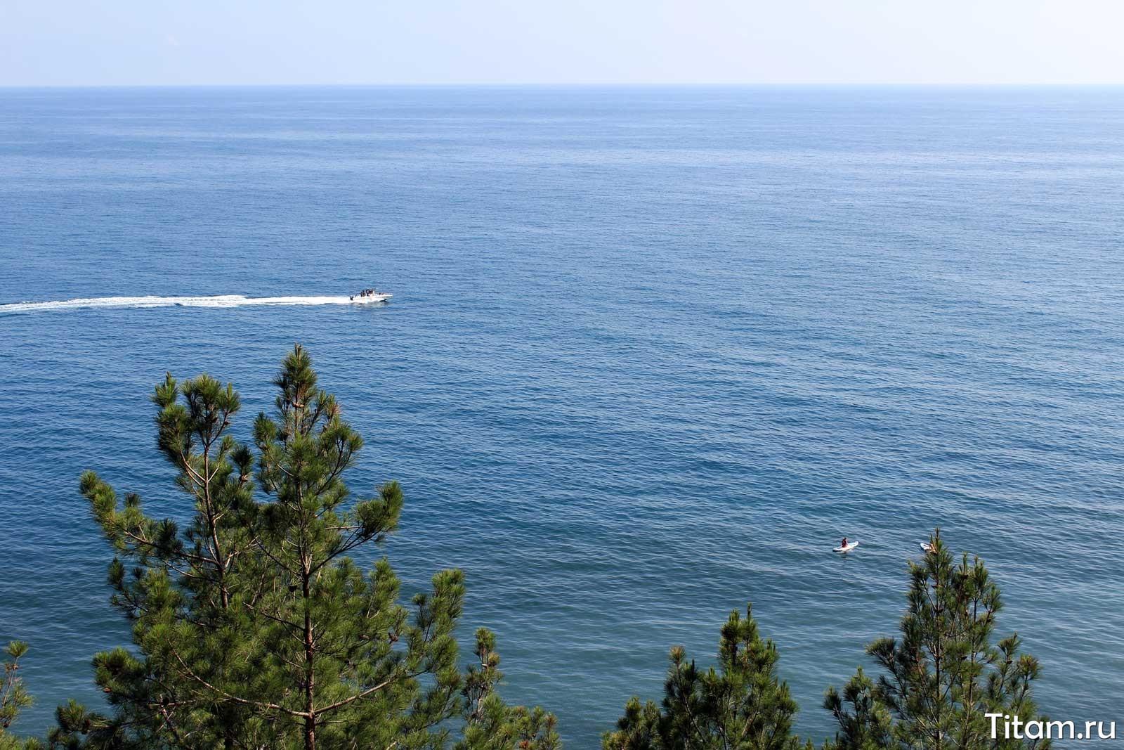Вид на море с тропы здоровья