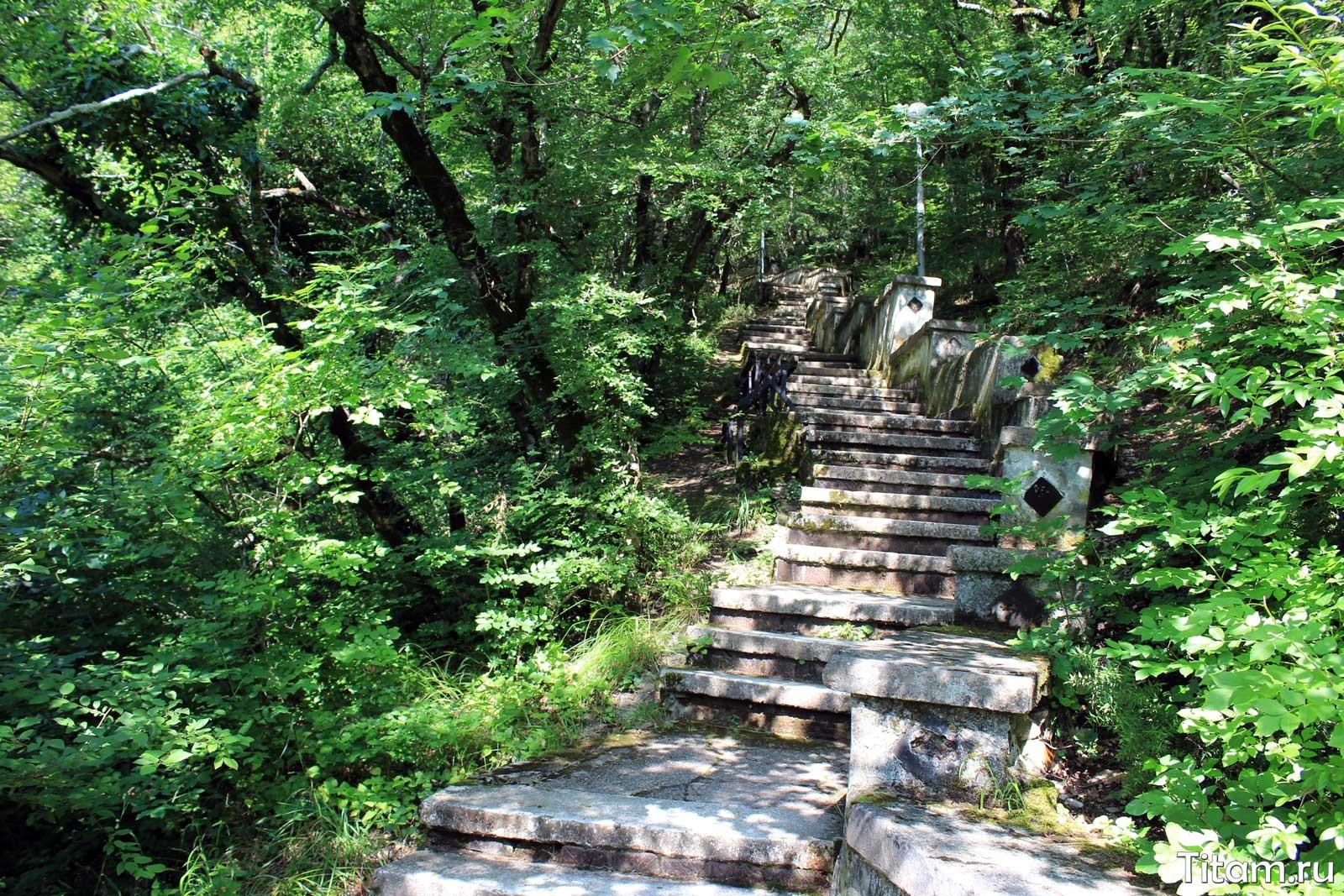 Лестница к ротонде в Бетте
