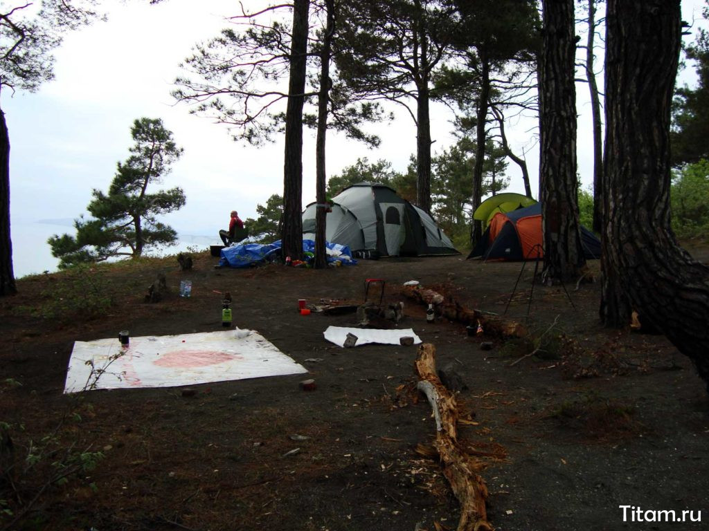 Голубая бездна. Палатки