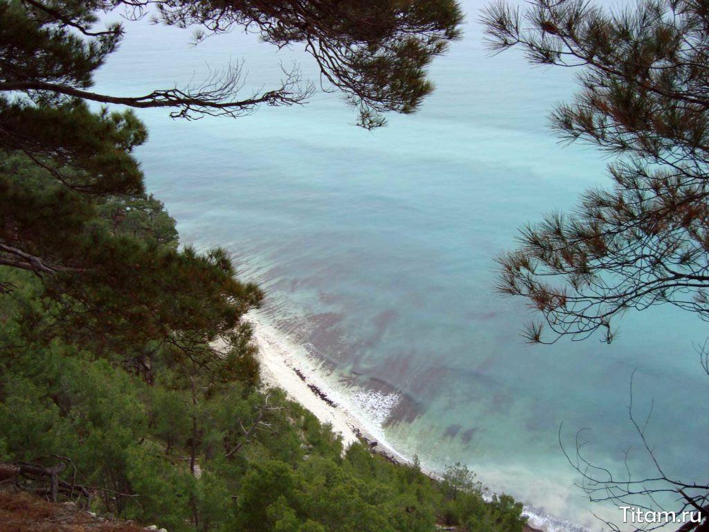 Голубая бездна. Пляж