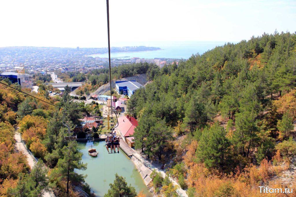 Канатная дорога и парк Олимп в Геленджике