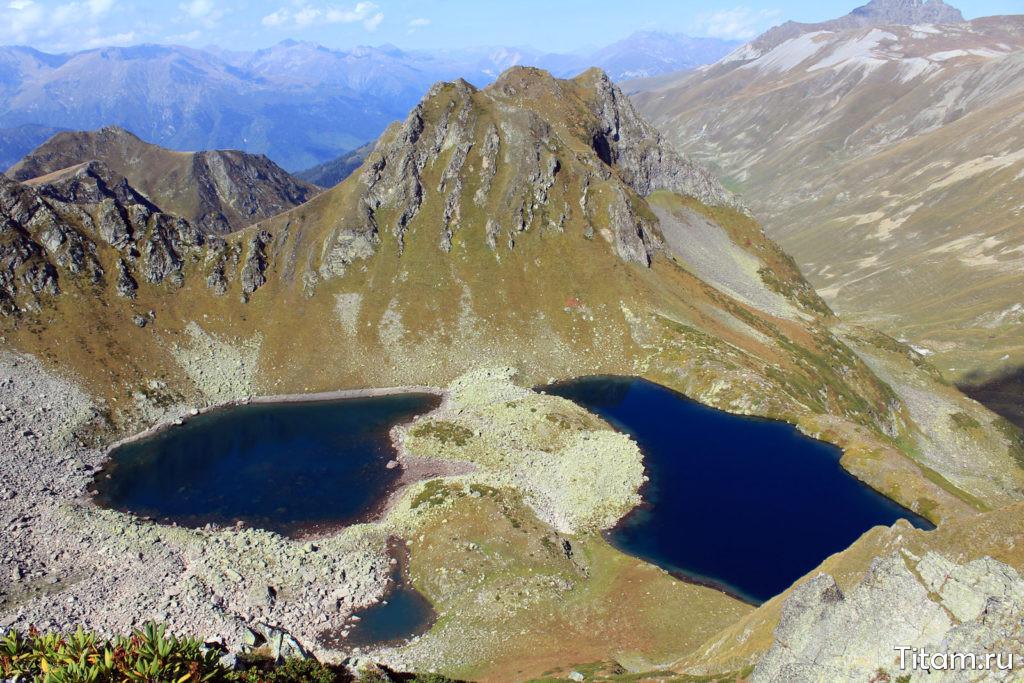 Загеданские озера (Двуозёрье) с перевала Ацгарских озёр